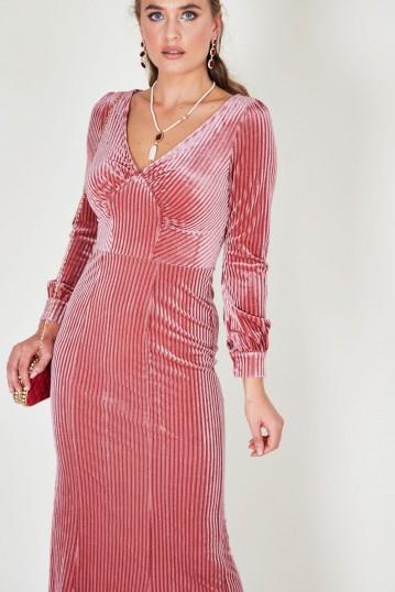 Edith Velvet Jewel Pink Gown