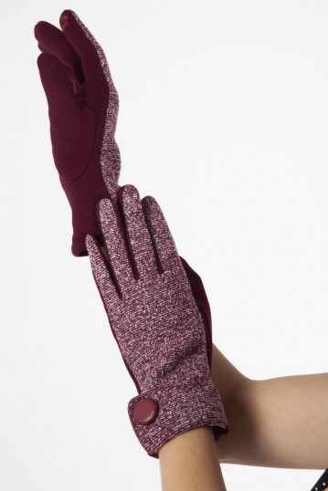 Evelyn Burgundy 40s Speckled Gloves