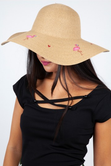 Flamingo Sun Hat Beige