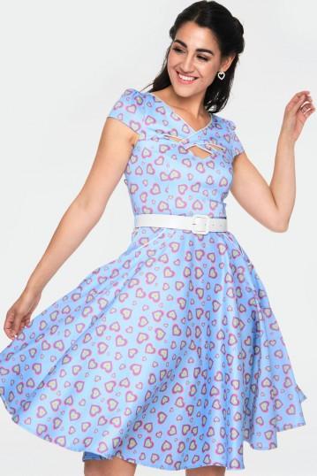 Ginger Heart Print Dress