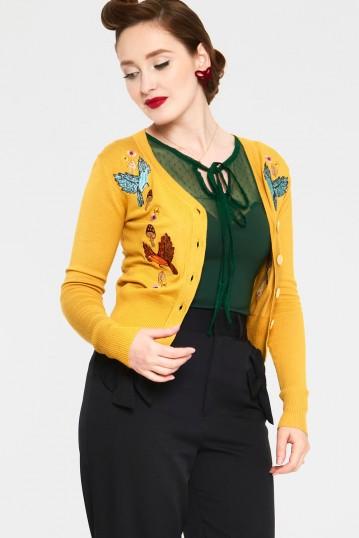 Ginny Mustard Woodland Cardigan