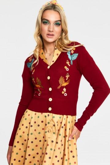 Ginny Red Woodland Cardigan