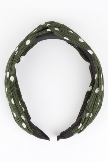 Aden Plisse Twist Headband