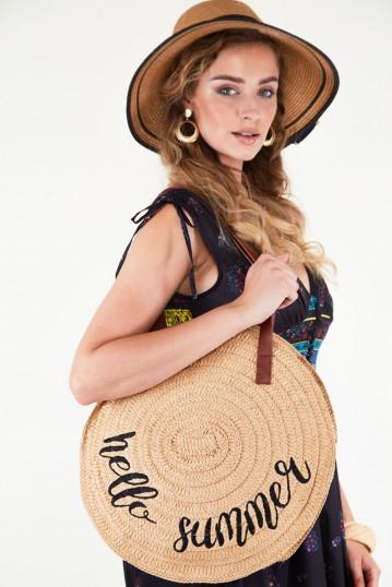 Hello Summer Wicker Bag Beige