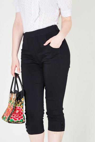 Holly Black Capri Pants