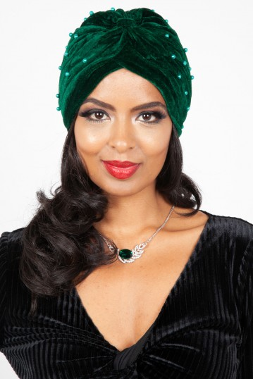 Brianna Emerald Pearl Turban