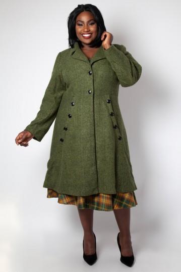Curve Nicole Green 40s Style Coat