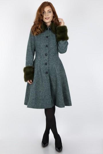 Curve Erin Herringbone Coat