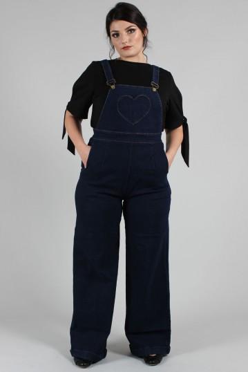 Curve Natalia Heart Pocket Overall Jumpsuit