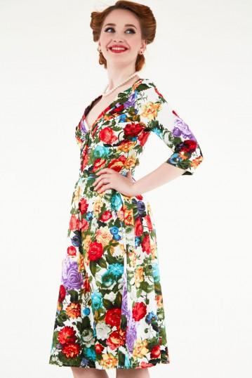 Judy Vibrant Floral Dress