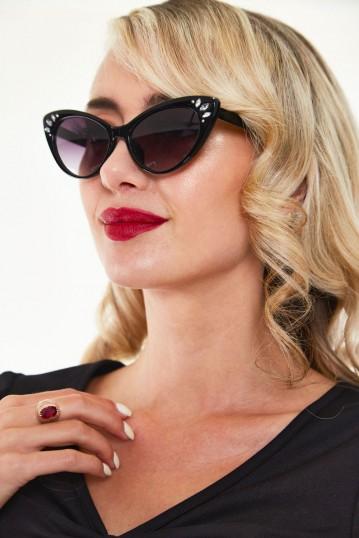 Kelly Gem Sunglasses in Black