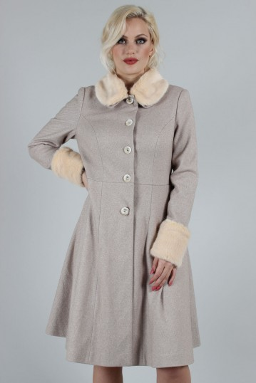 Curve Louisa May Sand Long Dress Coat