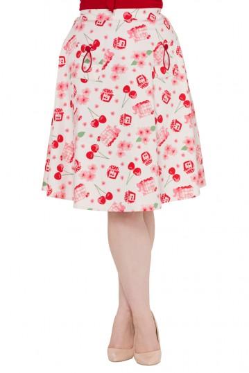 Zena Flared Cherry Skirt