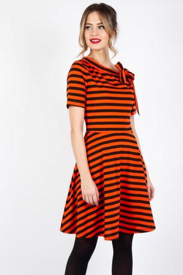 Marnie Striped Flare Dress