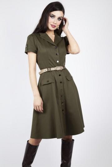 Curve Martha Button Down 40s Flare Dress