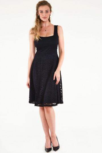 Maxine Black Lace Dress