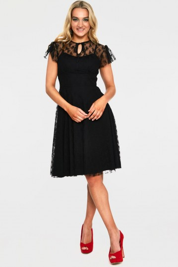Melody Black Lace Occasion Dress