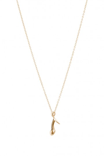 If The Shoe Fits Necklace Gold