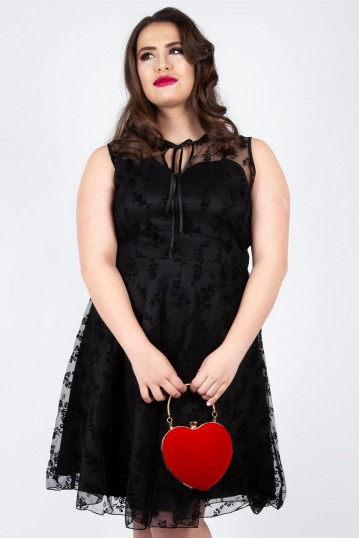 Curve Penny Black Lace Flare Dress