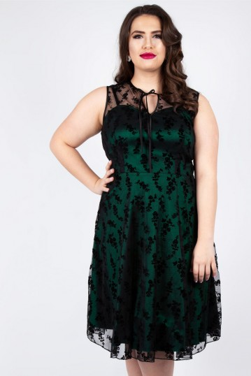 Curve Penny Green Lace Dress