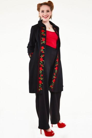Rosalind Embroidered Floral Coat