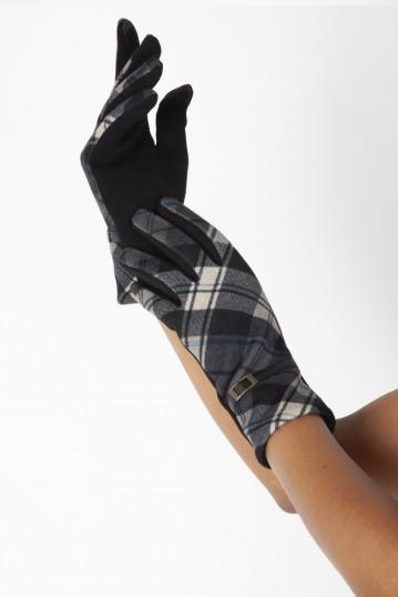 Mabel Black 40s Belted Gloves