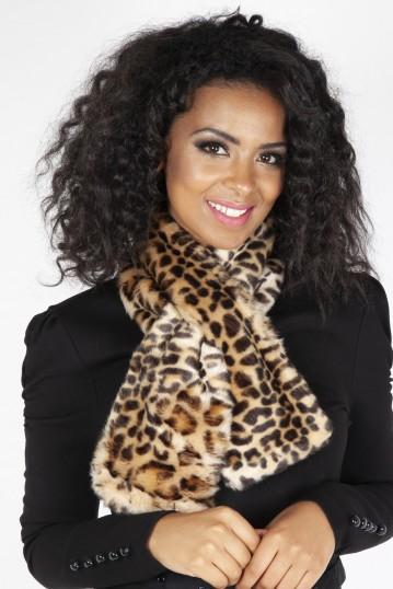 Leopard Faux Fur Stole