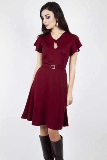 Curve Sharon Belted Twist Dress