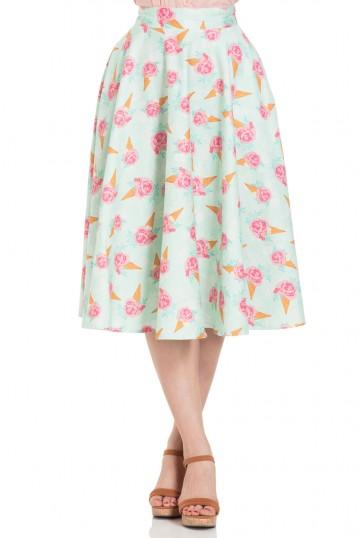 Amy Floral Ice Cream Print Skirt