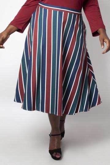 Curve Madelyn Striped Full Circle Skirt