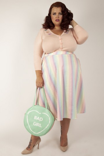 Curve Courtney Gingham Skirt with Pockets