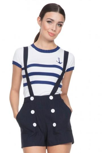 Daisy Nautical Shorts with Braces