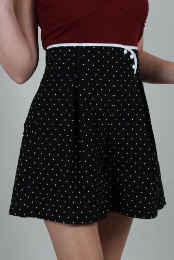 Paulina Polka Dot High-waist Shorts