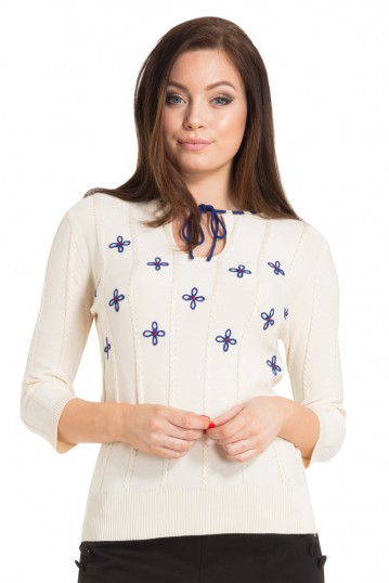 Voodoo Vixen Holly Floral Sweater