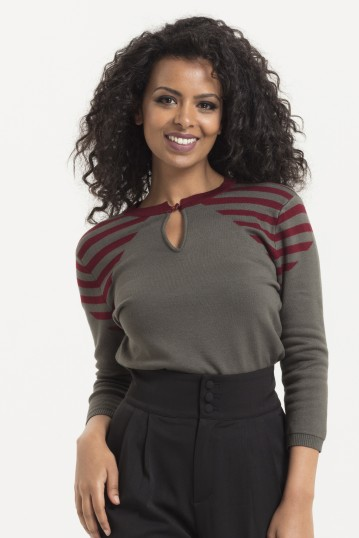 Voodoo Vixen Caroline Striped Sweater