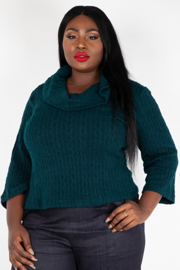 Curve Elena Knitted Scoop Neck Sweater