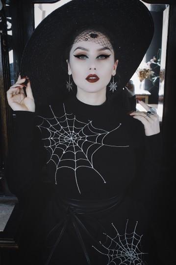 VV X Acid Doll Black Widow Sweater