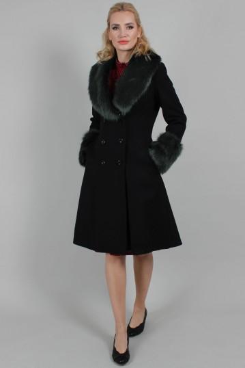Sylvie Faux Fur Trim Dress Coat