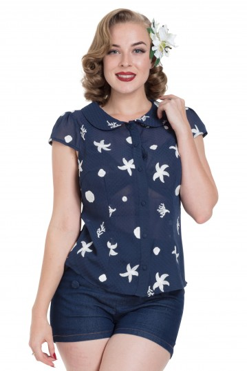 Kelly Under-The-Sea Embroidered Top