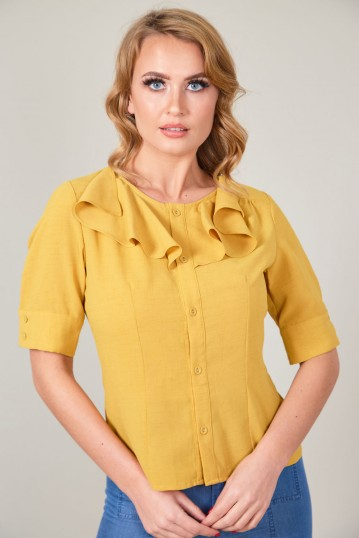 Yan Blouse with Frill