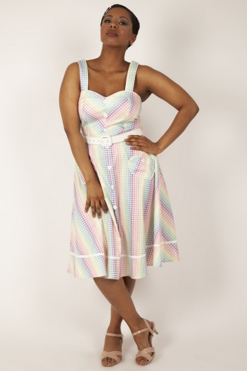 Trixie Gingham Dress with Heart-Shaped Pockets