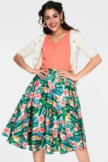 Valentina Floral Tropical Print Skirt