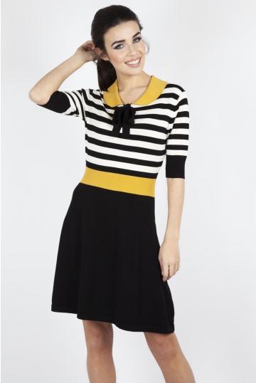 Sofie Striped Flare Knit Dress