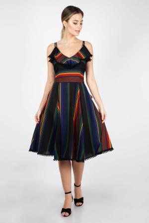 Adelyn Striped Swing Dress