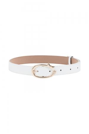Gold Bow Belt White