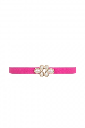 Pearl Clasp Belt Pink