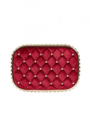 Catherine Velvet & Studded Elegant Evening Bag