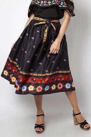 Charlotte Border Print Flare Skirt