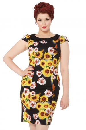 Nahla Sunflower Wiggle Dress