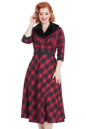 Bettie Plaid Swing Dress